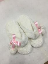 ladies plush flip flops slippers for indoor use