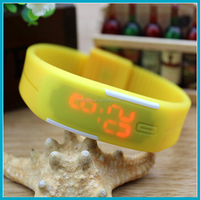 2015 new products waterproof silicon Mens Womens Boys Girls Sports Digital LED Bracelet Wrist Watches