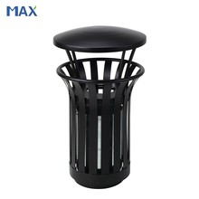metal outdoor receptacle garbage containers