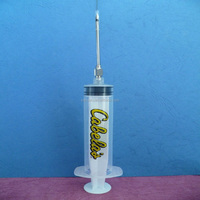 Medical disposable animal syringe for injection