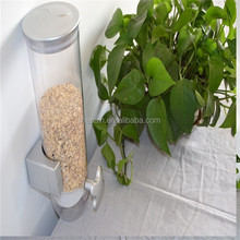 Single head plastic cereal dispenser nuts container