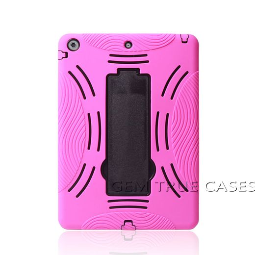 High quality PC silicone stand hybrid shockproof cover case for iPad