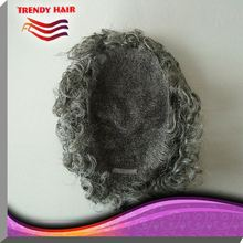 Human Hair Gray Hair Men Toupee 73