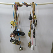 Any Colors Chandelier Cloth Cords Industrial Pendant lamp Vintage Fabric Wire Kit Cord Set