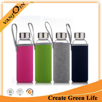 Portable Water Bottle 280ml 360ml 550ml Different Color Sleeves