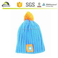 Kids Knit Wool Winter Cap Hat for Children Boy Girl,Blue