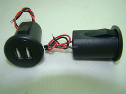 Auto Recreational Panel mouted USB ports plug used to Vehicle