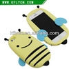 Free Sample! 3D soft Silicon Case for iphone 5 with Lovely bee Shaped with stand