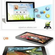 7 inch tablet pc with keyboard and sim card cheap rugged table pc android with tf card slot