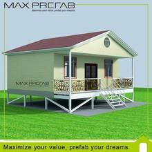 Economic easy assemble light steel frame 2 bedroom prefab modular home