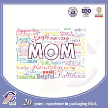 Making your own design of paper Mother's Day cards, colorful doodle paper greeting cards manufacturer in China