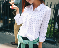 Women's fashion white color shirt ladies blouse latest design for women