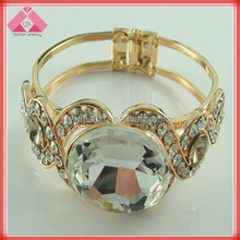 Fashion gold Diamond Snap Wide Design my crystal bangles (QXBG11028)