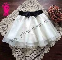 new spring 2015 organza princess skirt of tall waist skirt beading women's skirts