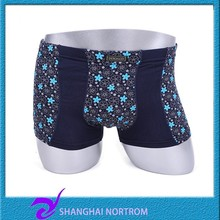 wholesale 95% Cotton 5%spandex personalized ultra size printing color sexy men underwear and cotton boxer