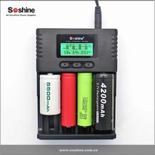 Soshine Intellicharger H4 LCD Li-ion/NiMH/ LiIFePO4 Universal Battery Charger 4slot 18650 battery charger 18650 charger