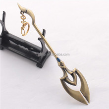 LOL Desert Emperor Of The Sands Azir Wand Weapon Model Alloy Keychain