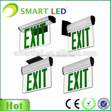 CE RoHS SAA factory NEW design universal install ways 3 watts rechargeable exit sign, exit sign light