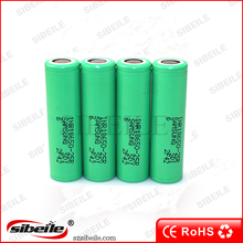 samsung 25R 3.7v 18650 2500mah green one 18650 power tools battery 18650 protected battery
