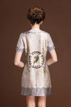 2015 Wholesale Novel Elastic Elegant plus Size Long Sleeve Imitated Silk Women's Skirts