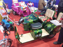 used passenger 650W electric trike rickshaw, electric bike 3 wheel bicycle in Indonesia