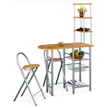 Metal Frame Bar Table and Chairs for 2 People