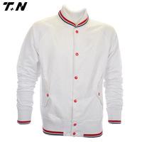 Blank baseball jackets white