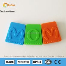 1 pcs Silicone, food grade, teething / chewing chew pendant/ bead Triangle. 40mm. DIY teething necklace. Orange