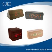 Fashion Clock Alarm Clock Antique Wooden Desk ClocK,led clock