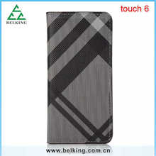 Colorful Grid wallet stand leather case for ipod touch 6, for ipod touch 6 fashion case, for ipod touch 6 case