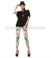venta al por mayor de moda dama de verano del diseñador funky leggings orgánicos