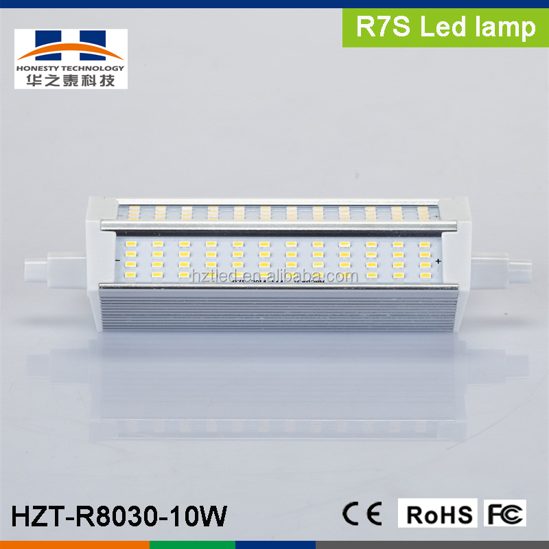 R7S 10W SMD3014 144pcs 800-900LM Warm White LED plug light r7s led 118mm R7S