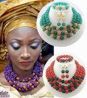 2015 wholesale nigerian wedding fashion african beads bridal jewelry set