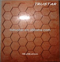 mosaic setting grids in hexagon for color pigment glass mosaic
