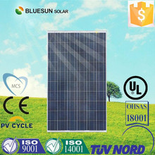 On--grid system use poly 250w solar panel rotating