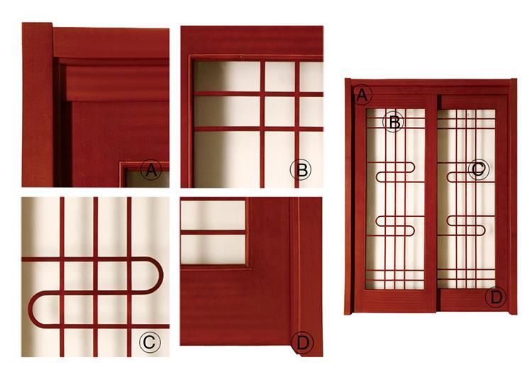 일본식 야마토 가구 슬라이딩 단단한 나무 부엌 방 문-문 -상품 ID ...