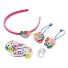 Color Hello kitty Children Hair Kits Hair accessories sets for kids