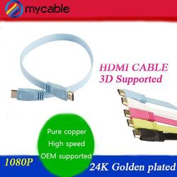 24K gold plated 3 rca to hdmi cable with 1080P 3D ethernet support hdmi 2.0 hdmi 1.4