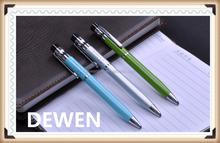 logo printed school suupply metal ball pen,wholesale hot selling metal twisit pen