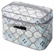 Classic coated canvas Travel Train Case makeup bag hot sale