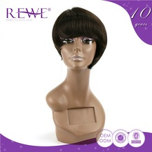 Good Price Portable And Endurable Lace Human Hair Wig 6 Inch Price Band