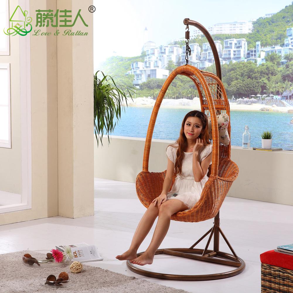 Plein air poly rotin swingasan fauteuil suspendu avec - Fauteuil suspendu avec support ...