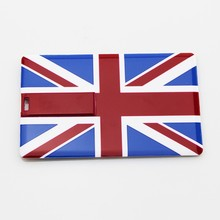 different kinds national flag card usb hot sale usb card flash drive memory card stick