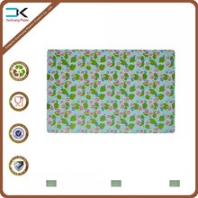 Floral pattern uv offset printing plastic place mat