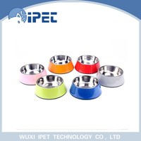 2015 New fashionable Steel stainless dog/cat bowl colourful healthy pet bowl