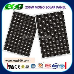 250W Mono silicon solar module /275watt solar panel with outlet/300W solar module with outlet