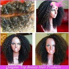 7A Cheap Afro Kinky Curly Brazilian Glueless Lace Front Human Hair WigsShort Kinky Hair Lace Wigs For Black Women
