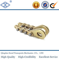 50T port lifting conveyor galle chain with washers safety factor 1:4