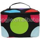 Makeup Bag Cosmetic Case with Cute Colorful Polka Dot
