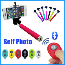 2014 Factory Cheap Bluetooth Extendable Selfie Stick Wireless Monopod For Iphone and Andriod